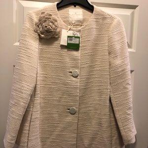 Kate Spade ivory coat size 12